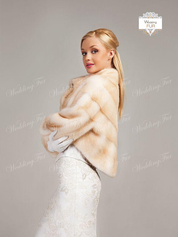 Шубка для невесты из норки на телеведущей Оле Данка. Образец не продается