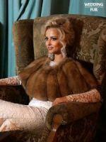 Меховая накидка на вечернее платье из соболя купить