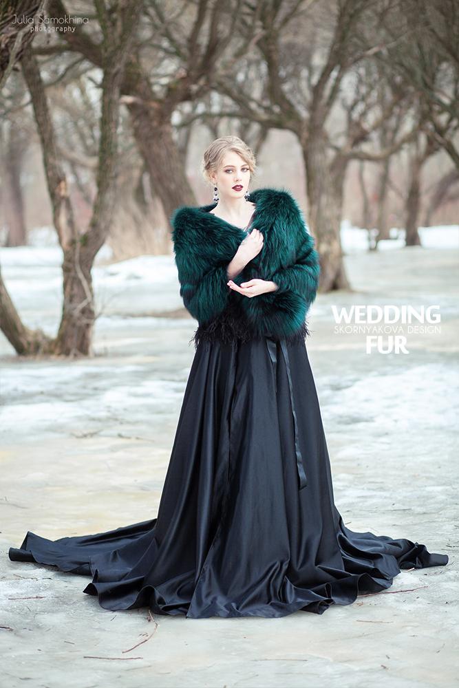 Вечернее платье с манто