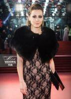 Меховая накидка на вечернее платье черная натуральный мех