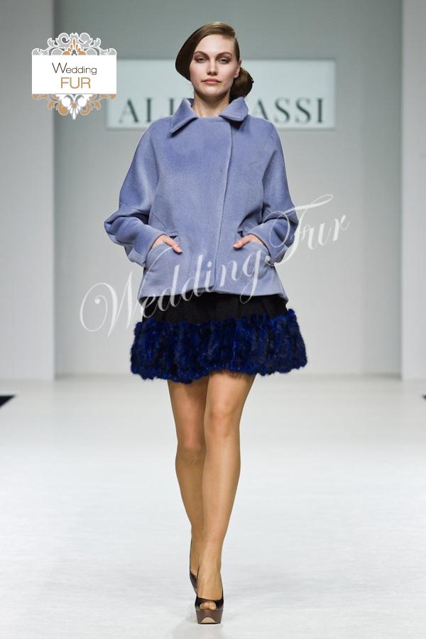 Меховая юбка из норки для показа Алины Асси Wedding fur