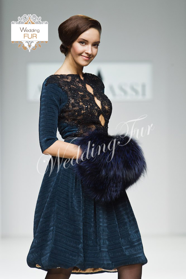 Муфта из меха для показал Alina Assi Wedding fur