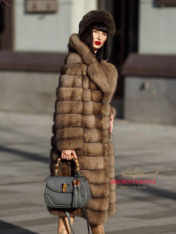 Шуба из куницы купить в Москве.